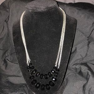 Silver Chain with Shiny Beads (costume jewelry)